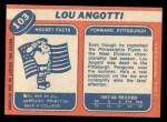 1968 Topps #103  Lou Angotti  Back Thumbnail