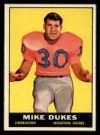1961 Topps #144  Mike Dukes  Front Thumbnail