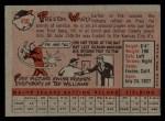 1958 Topps #450  Preston Ward  Back Thumbnail