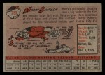 1958 Topps #299  Harry Simpson  Back Thumbnail