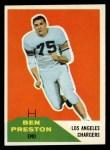 1960 Fleer #8  Ben Preston  Front Thumbnail