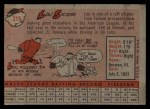 1958 Topps #319  Lou Skizas  Back Thumbnail
