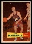1957 Topps #22  Tom Marshall  Front Thumbnail
