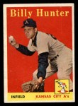 1958 Topps #98 YN Billy Hunter  Front Thumbnail