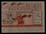 1958 Topps #387  Wally Post  Back Thumbnail