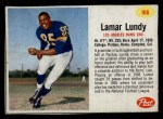 1962 Post #166  Lamar Lundy  Front Thumbnail