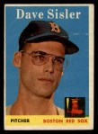 1958 Topps #59 ERR Dave Sisler  Front Thumbnail