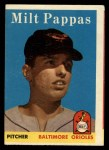 1958 Topps #457  Milt Pappas  Front Thumbnail