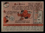 1958 Topps #50 WT Bill Pierce  Back Thumbnail