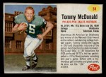 1962 Post #38  Tommy McDonald  Front Thumbnail
