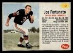 1962 Post #112  Joe Fortunato  Front Thumbnail