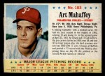 1963 Post Cereal #183  Art Mahaffey  Front Thumbnail