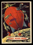 1957 Topps Space Cards #8   Robot Nears Moon  Front Thumbnail