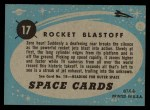1957 Topps Space Cards #17   Rocket Blastoff Back Thumbnail