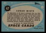 1957 Topps Space Cards #47   Lunar Mists  Back Thumbnail