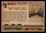 1955 Topps Rails & Sails #12   Steam Turbine Locomotive Back Thumbnail
