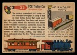 1955 Topps Rails & Sails #23   PCC Trolley Car Back Thumbnail