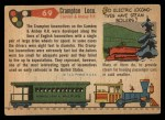 1955 Topps Rails & Sails #69   Crampton Locomotive Back Thumbnail