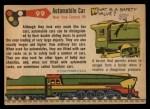 1955 Topps Rails & Sails #99   Automobile Box Car Back Thumbnail