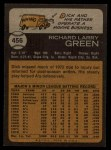 1973 Topps #456  Dick Green  Back Thumbnail