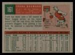 1959 Topps #161  Frank Baumann  Back Thumbnail