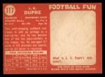 1958 Topps #117  L.G. Dupre  Back Thumbnail