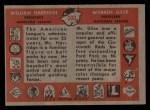 1958 Topps #300   -  William Harridge / Warren Giles League Presidents Back Thumbnail