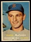1957 Topps #355  Frank Malzone  Front Thumbnail