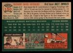1954 Topps #150  Dick Kryhoski  Back Thumbnail