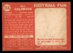 1958 Topps #114  Willie Galimore  Back Thumbnail