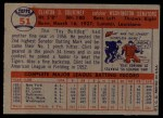 1957 Topps #51  Clint Courtney  Back Thumbnail