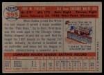 1957 Topps #395  Bubba Phillips  Back Thumbnail