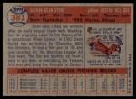 1957 Topps #381  Dean Stone  Back Thumbnail