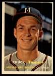 1957 Topps #392  Chuck Tanner  Front Thumbnail