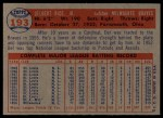 1957 Topps #193  Del Rice  Back Thumbnail