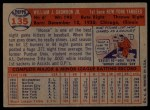 1957 Topps #135  Bill Skowron  Back Thumbnail