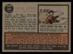 1962 Topps #489  Julio Gotay  Back Thumbnail