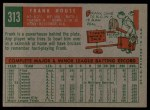1959 Topps #313  Frank House  Back Thumbnail