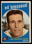 1959 Topps #19  Eddie Bressoud  Front Thumbnail
