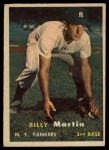 1957 Topps #62  Billy Martin  Front Thumbnail