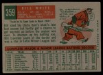 1959 Topps #359  Bill White  Back Thumbnail