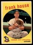 1959 Topps #313  Frank House  Front Thumbnail