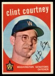 1959 Topps #483  Clint Courtney  Front Thumbnail