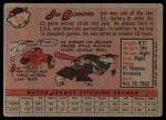 1958 Topps #115  Jim Bunning  Back Thumbnail
