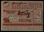 1958 Topps #61 ^WN^ Darrell Johnson  Back Thumbnail