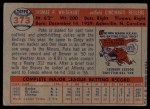 1957 Topps #373  Pete Whisenant  Back Thumbnail