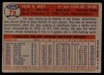 1957 Topps #78  Vic Wertz  Back Thumbnail