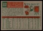 1959 Topps #332  Ray Monzant  Back Thumbnail