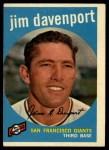 1959 Topps #198  Jim Davenport  Front Thumbnail