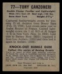 1948 Leaf #77  Tony Canzoneri  Back Thumbnail